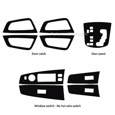 Window Switch Panel Carbon Fabric Decal Sticker Heating type For Ssangyong Kyron