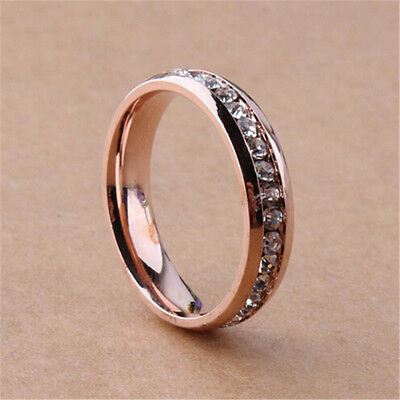 Size 6-9 Women Fashion Jewelry 925 Silver White Zircon Engagement Wedding Ring