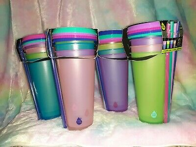 24oz 4 Pack Cups//Lids//Straws New TAL Color Changing Tumblers Set