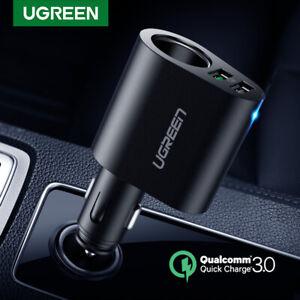 Ugreen-Car-Charger-Adapter-60W-Cigarette-Lighter-Socket-Splitter-QC-3-0-for-iPad
