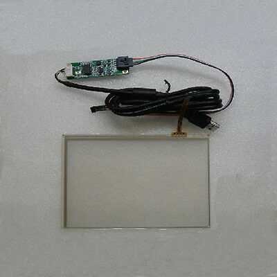 7 inch 4 Wire Resistive Touch Screen Panel Kit Set USB For Windows 7 Vista XP