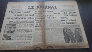 JOURNAUX-LE-JOURNAL-N-17061-VENDREDI-7-JUILLET-1939-ABE