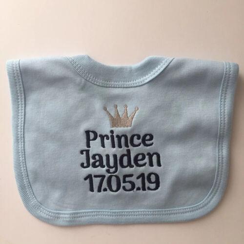 Personalizado Bordado Príncipe Babero De Bebé