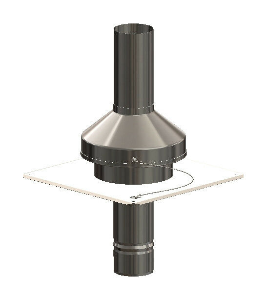 Atec Abgassystem Mündungsset Edelstahl mit Endrohr 450 mm DN 80