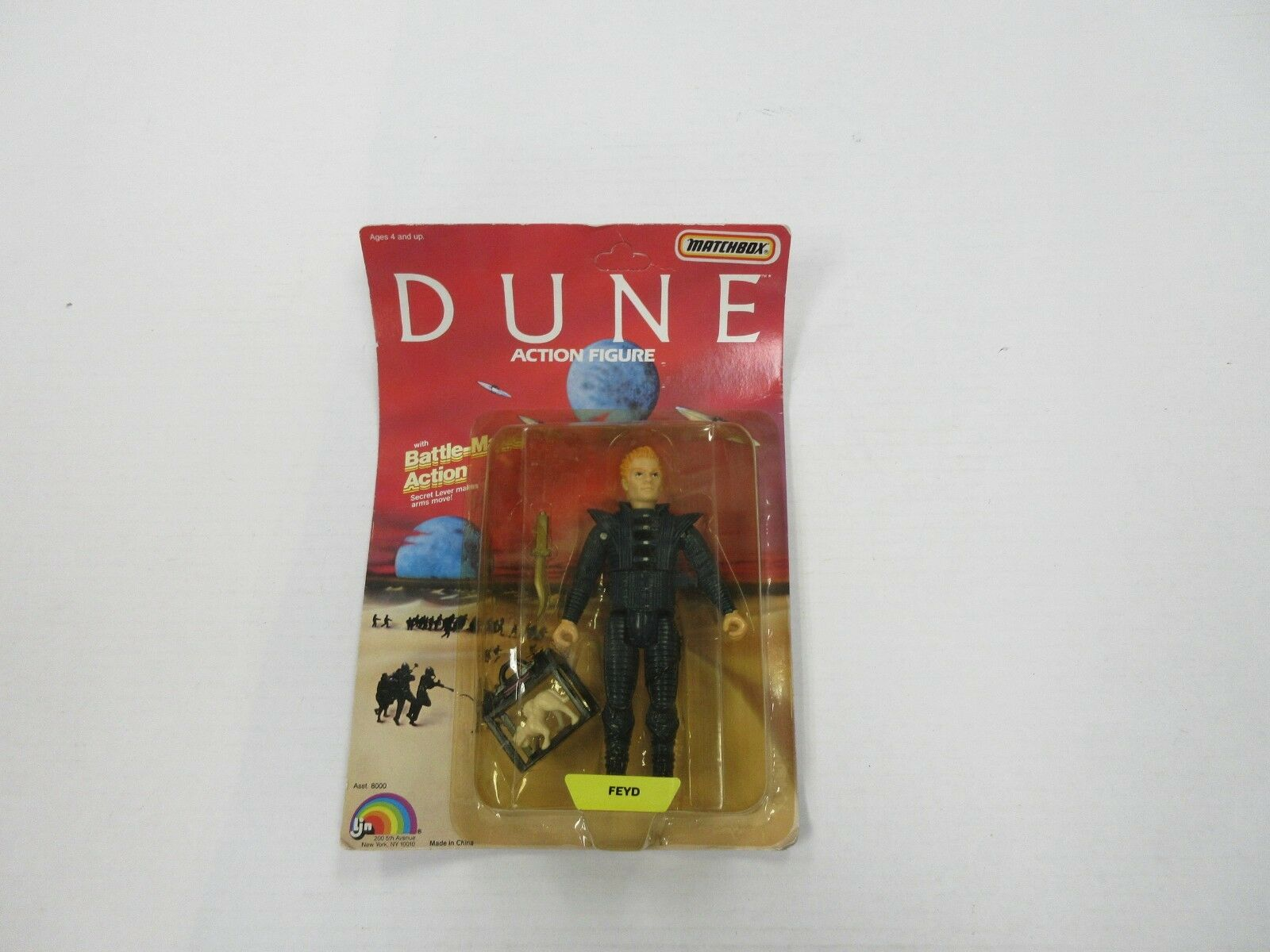 1984 LJN DUNE FEYD AKA STING FIGURE SEALED UNPUNCHED
