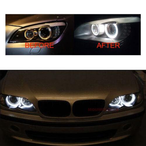 White Angel Eyes Halo 20W CREE LED Ring Marker Bulbs For BMW X5 E39 E60 E63 E61