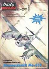 """Maly Modelarz 1-2/99 Fighter aircraft MESSERSCHMITT Me 410 """"Hornet"""" 1:33"""