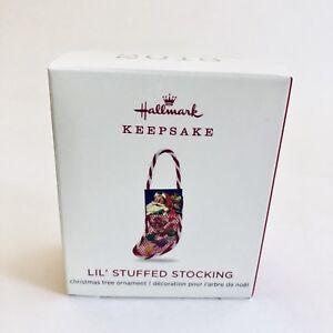 Hallmark-2018-Lil-Stuffed-Stocking-Miniature-Keepsake-Ornament-NEW-SOLD-OUT