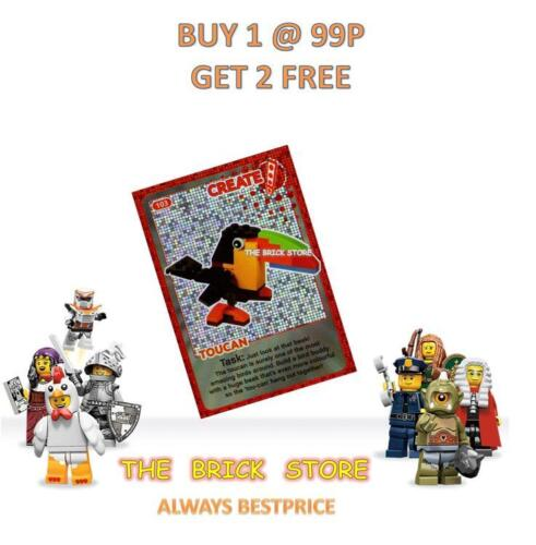 GIFT CREATE THE WORLD TRADING CARD LEGO #103 NEW BESTPRICE TOUCAN