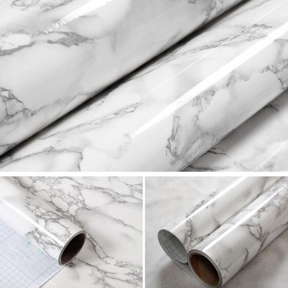 marble effect contact paper film vinyl self adhesive wallpaper sheets ebay. Black Bedroom Furniture Sets. Home Design Ideas