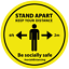 thumbnail 1 - Social Distancing Floor Stickers Signs 200mm Safe Distance 2m Self Adhesive
