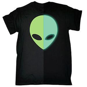 Glow-In-The-Dark-Martian-Head-T-SHIRT-Space-Movie-Tv-Ufo-Sci-Fi-Gift-Birthday