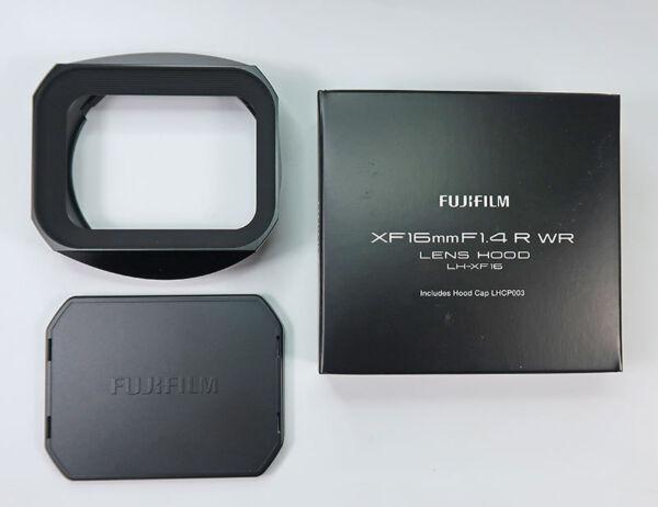 Fuji Lh-xf16 Pare-soleil Métal Noir Pour Xf 16mm F/1,4 R Wr Excellent Effet De Coussin