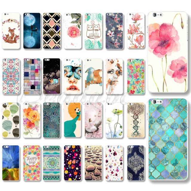 For iPhone 4S 5S 5C 6 6Plus Phone Case PC Back Cover Protective Skins Colorful
