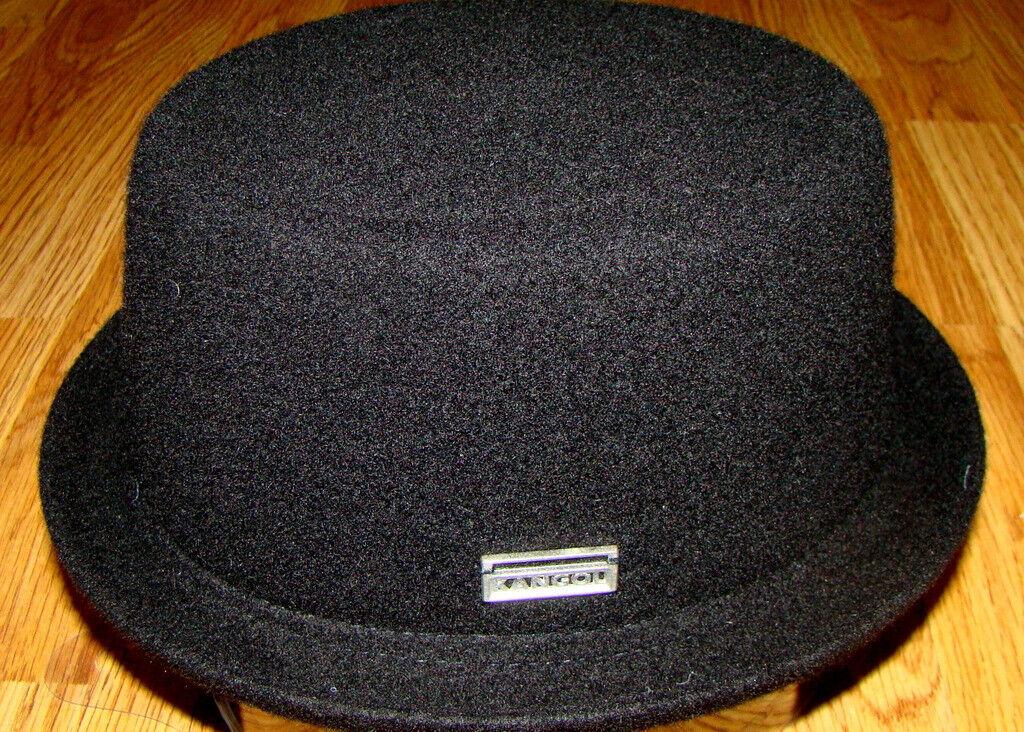 Black  KANGOL  Wool  Mowbray  Pork Pie Hat