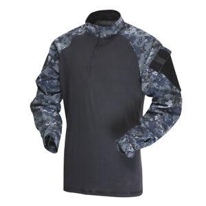 Black//Black Tru-Spec 65//35 Poly Cotton RS TRU 1//4 Zip Combat Shirts
