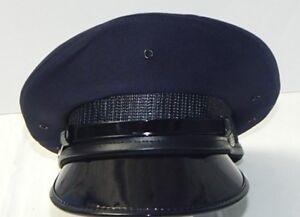 70a065d72d4 Details about BERNARD MILITARY-POLICE NAVY BLUE UNIFORM GRADUATION CEREMONY HAT  CAP Size 6 7 8