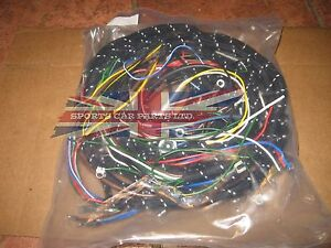 new cloth covered wiring harness for mg mga 1600 1959 1962 made in rh ebay com wiring harness components wiring harness connector
