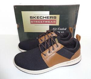 Conflicto préstamo profundizar  Skechers Homme Mousse à Mémoire de Forme Noir Marron À Lacets Baskets De  Loisirs Chaussures Uk Taille 10 | eBay