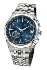 New Citizen Satellite Wave World Time GPS Blue Dial Watch CC3020-57L