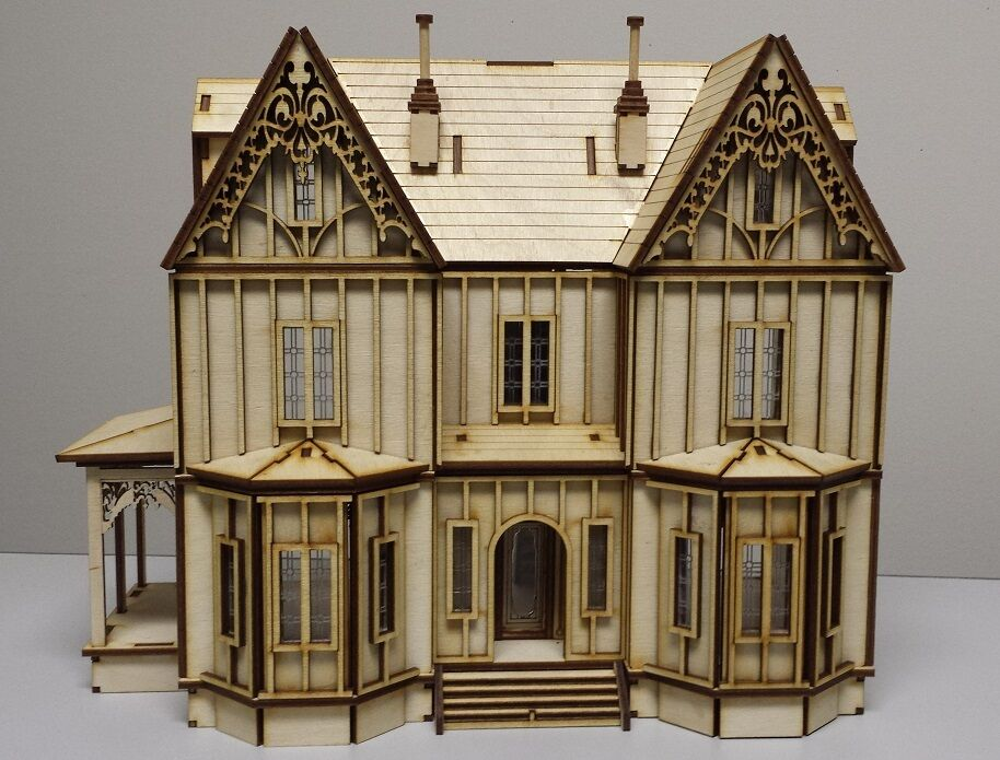 Kristiana Tudor 1 48 scale dollhaus Kit W out shingles