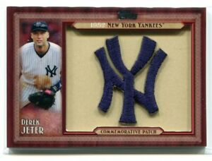 2011 Topps Commemorative Patch DK Derek Jeter 1952 Yankees Throwback Logo Patch