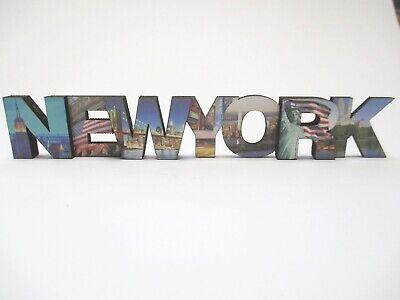 New York bois magnétiques majuscules 15 cm statue de la liberté souvenir USA