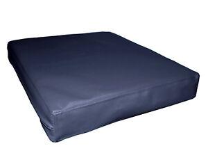 pa804t Dark Navy Blue Outdoor PVC 3D Box Seat Cushion Cover*Custom Size
