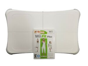 Nintendo Wii Balance Board Bundle with Wii Fit Plus Game Complete with Manual