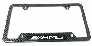 Carbon Fiber Stainless Steel Amg License Plate Cover