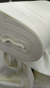 """Cream 100 Cotton Sateen Curtain Fabric Lining 54"""" Wide by The Metre"""