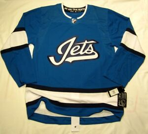 on sale e7a05 c3445 Details about WINNIPEG JETS - size 54 = sz XL - 3rd Style ADIDAS NHL HOCKEY  JERSEY Authentic