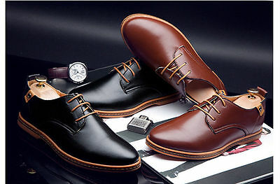 Men's Business casual Pantent Leather Dress Pointed Oxfords Flats wedding Shoes