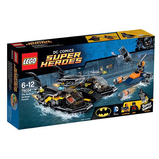 LEGO ® DC Comic Super Heroes Heroes Heroes 76034 The Batboat Harbor Pursuit Neu OVP New Orig fe4627