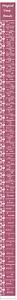 Massband-Zeitband-Kalender-Tageszähler-Maßband Rosa  abschneiden