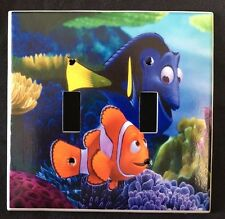 Disney FINDING NEMO DOUBLE LIGHT SWITCH COVER Nemo & Dory Double switch plate