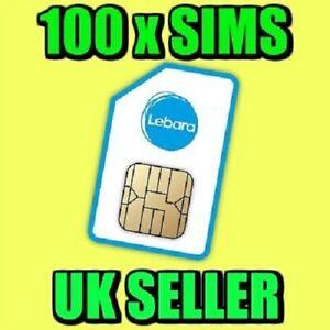 100 X Lebara Mobile Pay As You Go 4g Sim Cards Uk New Bulk Wholesale Joblot Ebay