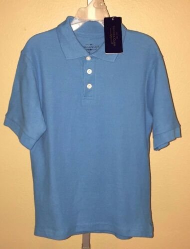 Boy/'s Sahara Club Blue Short Sleeve Uniform Polo Shirt 7 6 Sizes 4