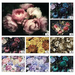 Vliestapete-Fototapete-Tapete-Vlies-Blumen-Kunst-Pfingstrosen-Rosen-Natur-FW018