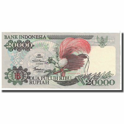 Indonesia Km:132a Meticulous Dyeing Processes 20,000 Rupiah Banknote #123269 63 Unc 1992 Sincere