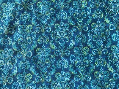 Blue Royal Blue FQ Fat Quarter Fabric Patterns Oval Shape 100/% Cotton Quilting