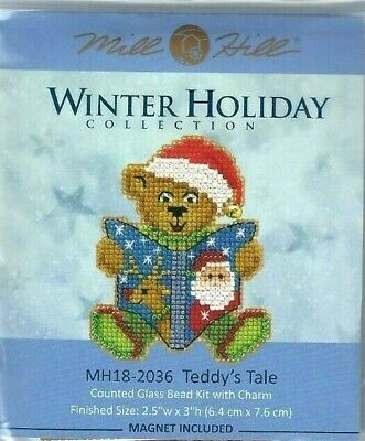 Holly Cupcake 10/% Off Mill Hill Winter Holiday Series X-stitch//Beading Kit