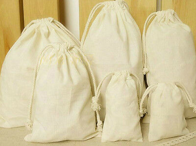Travel Cotton Storage Drawstring Bag Laundry Toys Tidy Collect Bag Pouch Bag