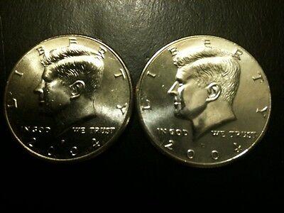 2009 P/&D Kennedy Half Dollar Set GEM BU From MINT ROLL Clad No Silver 50 Cent