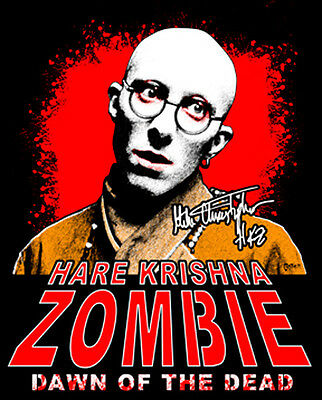 "Hare Krishna Zombie, Dawn of the Dead, Autographed Picture: ""J. Gathier Design"""