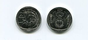 South-Africa-10-Years-of-Freedom-R2-Coin-2004-2-Rand-ANC-Nelson-Mandela-Km334