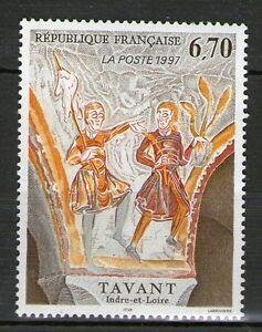 TIMBRE-3049-NEUF-XX-LUXE-FRESQUE-DE-TAVANT-OEUVRE-ORIGINALE