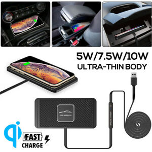 Qi-Wireless-Car-Phone-Charger-Fast-Charging-Pad-Non-Slip-Mount-For-Smartphone