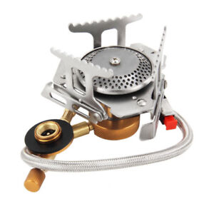 3500W Portable Outdoor Picnic Gas Burner Folding Camping Mini Steel Stove /&Case