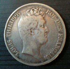 Monnaie-5-francs-tete-nue-argent-1830-A-Paris-sans-le-1-tranche-relief-km-738